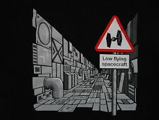DEATH STAR Low Flying Spacecraft STAR WARS T-shirt Size S TEE FURY George Lucas