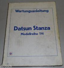 Grundhandbuch Wartungsanleitung (Nissan) Datsun Stanza T11 + Bulletin Stand 1981
