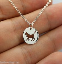 CAT CHARM NECKLACE - 925 Sterling Silver - *NEW* Cat Cutout Kitty Animal Charm