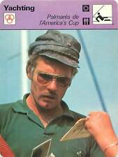 FICHE CARD Ted Turner Skipper Courageous Coupe America' Cup   Voilier Yacht 70s