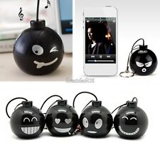 3.5mm Mini Black Bomb Speaker For ipod/ iphone/ PC/ Laptop/ MP3 Mp4/ Cell Phones