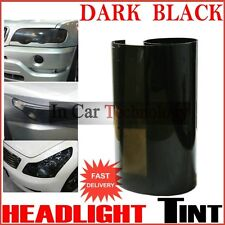 Car Motorcycle Scooter - HEADLIGHTS TINT VINYL FILM - DARK BLACK - 30cm x 120cm