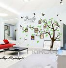 Family Like Branch Photo Picture Frame Tree Wall Stickers Vinyl Decals Art Decor