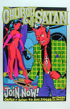 Coop Church Of Satan Poster -  Scarce Signed Numbered  Silver Edition of 666