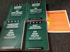 2004 DODGE RAM TRUCK 1500 2500 3500 Service Shop Repair Manual Set DIESEL OEM