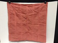 Pottery Barn West Elm Organic Seersucker Bed Pillow Sham Euro Square Coral Rose