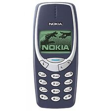 In New Condition Recondition Nokia 3310 Blue Unlocked Simple Basic Mobile Phone