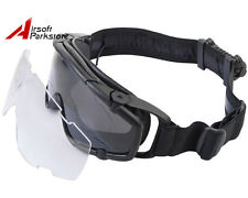 Tactical Military Airsoft Paintball Hunting Ballistic-Goggle Glasses w/Fan Black