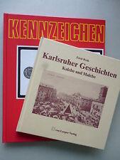 2 Bücher Karlsruher Geschichten Kalche Malche + Kennzeichen KA Karlsruhe