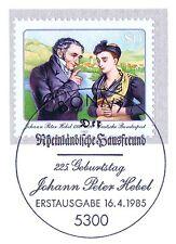BRD 1985: Johann Peter Hebel Nr. 1246 mit Bonner Ersttags-Sonderstempel! 1A! 156