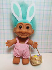 "EASTER WACKY WABBIT / RABBIT / BUNNY WITH BASKET  - 5"" Russ Troll Doll - RARE"