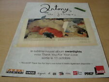ANTONY AND THE JOHNSONS - SWANLIGTS!FRENCH PRESS ADVERT