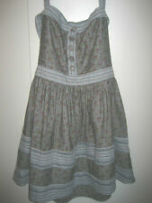 Miss Sixty M60 Designer Light Blue Denim Floral Print Dress Halter Sz 10 M NWT