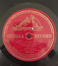 """RARE 78RPM 12"""" ONE SIDED VICTROLA 85125 POL PLANCON ROBERT LE DIABLE INVOCATION"""