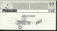 Pegasus Modelos 2023 Airco DeHavilland DH5 en escala 1:72