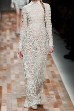 NWT VALENTINO RUNWAY Ivory Tulle Beaded Gown Wedding Dress US6 IT42 $28,000