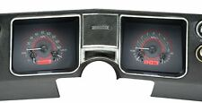 1968 Chevelle El Camino Dakota Digital Carbon Fiber & Red VHX Analog Gauge Kit