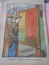 Devant les panneaux La paix c'est pas ca qui nous la donnera ! Print 1936