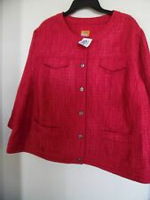 Ruby Rd Women's  Jacket Crinkle Textured  Size 22W  RED NEW