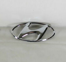 HYUNDAI CHROME H EMBLEM GENUINE OEM BADGE back sign symbol logo grille grill