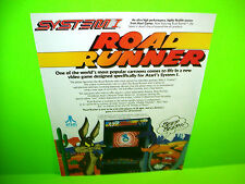 Atari ROAD RUNNER 1986 Video Arcade Game Promo Ad Not A Flyer b/w ARKANOID