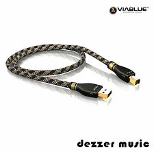 ViaBlue 0,50m KR-2 Silver USB-Kabel 2.0 / Stecker A/B / 0,5m…HIGH END