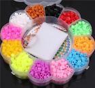 1200pcs/box Perler Fun Fusion Hama Fuse Beads Refills 12 Colors Kid Kit Craft JJ