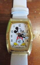 Vintage Ladies Seiko Mickey Mouse Rectangle Walt Disney Watch Rotating Mickey