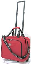 "15"" 30LB. CAPACITY RED ROLLING WHEELED LAPTOP BAG / BRIEFCASE/ CARRYON LUGGAGE"