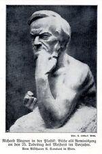 Richard wagner-buste v. A. cansiani vienne historique accueil de 1909