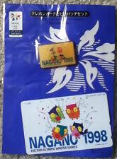 Nagano 98 Winter Olympics Japanese phone card + pin