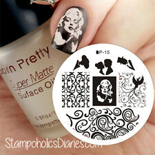 Nagel Schablone Nail Art Stamp Stamping Template Plates BORN PRETTY 15