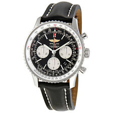 Breitling Navitimer 01 Black Dial Chronograph Mens Watch AB012012-BB01