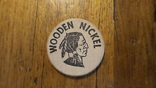 Vintage ADVERTISING WOODEN NICKLE Discount at HOUSE OF HEALTH Miramar Pkwy