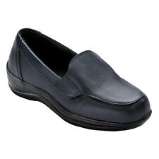 New without Box Orthofeet Astoria Leather Slip-On Strap Loafers Navy Size 12 D,W