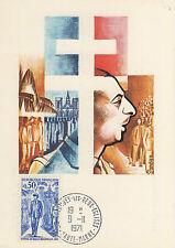1 CARTE POSTALE ANNIVERSAIRE GENERAL DE GAULLE 1890 1970 Cachet postal COLOMBEY