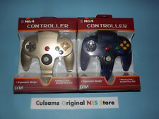 TWO NEW NINTENDO 64 N64 (ZELDA GOLD+CLEAR-GRAPE) CONTROLLERS WITH GUARANTEE