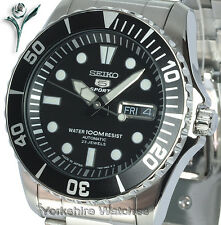 NEW SEIKO AUTOMATIC 100m DIVERS STYLE With STAINLESS STEEL BRACELET SNZF17J1