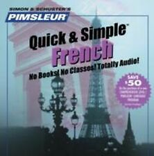 Pimsleur Quick & Simple French Audio 4 CDs, 2002 Brand New