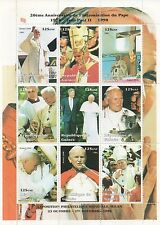 POPE JOHN PAUL II PRESIDENT BILL CLINTON GUINEE 1998 MNH STAMP SHEETLET