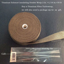 Titanium Insulation Pipe Wrap Exhaust Header Tape  2 in. ×1/16 in.×50ft 2015 New