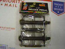 "Old School BMX Victor Rat Trap Pedals BLACK 1/2 "" NOS Cruiser Vintage"