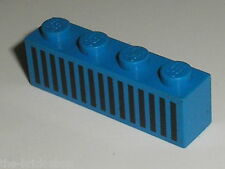 LEGO espace space Blue Brick with grille ref 3010p04 / Set 497 928 6890 6985 ...