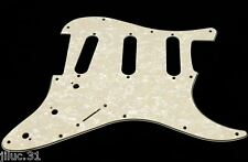 NEW PICKGUARD STRATOCASTER SSS pearl aged white 3 ply pour Fender, Squier etc