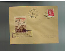 1946 France Cannes Film Festival Air Rally Cover 15 Franc Cinderella