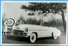 """12 By 18"""" Black & White Picture 1950 Chevrolet Convertible Top Down"""