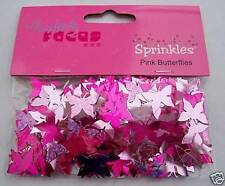 Pink Butterfly Sprinkles TABLE CONFETTI 14g Bag New