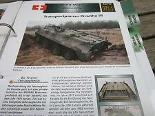 Archiv Militärfahrzeuge Leichte Panzer 71.1 Transportpanzer Pirnaha III Schweiz