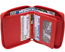 LEDER Geldbörse THE BOX - rot - Geldbeutel mit Wiener Schachtel Portemonnaie