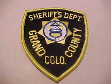 GRAND COUNTY COLORADO POLICE PATCH **** FREE SHIP IN USA ****
